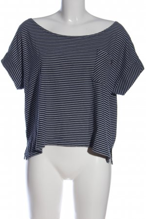 Element Camicetta a maniche corte blu-bianco motivo a righe stile casual