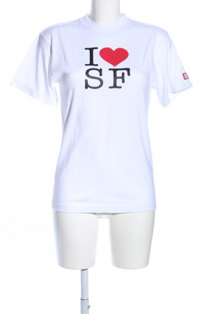 Element Print-Shirt weiß Schriftzug gedruckt Casual-Look
