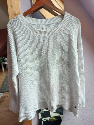 Element Crochet Sweater white