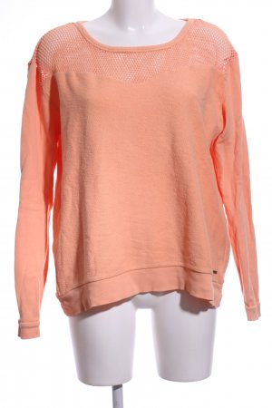 Element Rundhalspullover hellorange Casual-Look