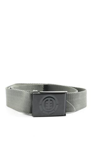 Element Cinturón de tela gris claro look casual