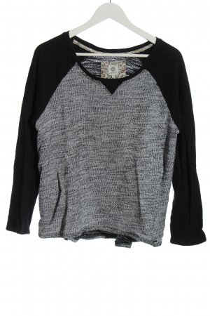 Element Knitted Sweater black-light grey flecked casual look