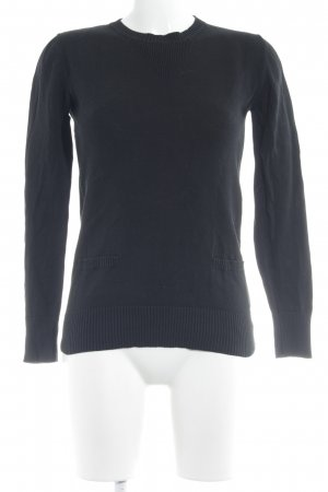 Element Strickpullover schwarz Casual-Look