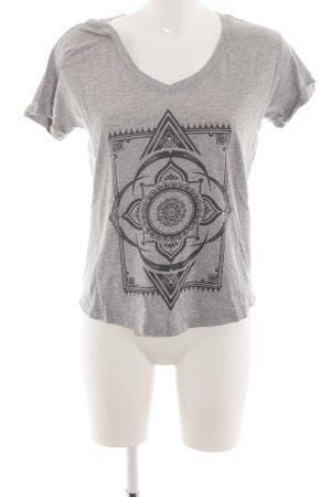 Element T-Shirt hellgrau-schwarz meliert Casual-Look
