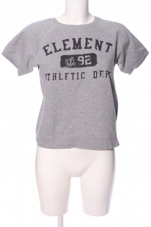 Element T-Shirt hellgrau-schwarz meliert Casual-Look