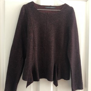 Elemente Clemente Peplum Top brown red-black mixture fibre