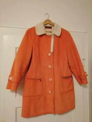 elements by TAIFUN Collection Cappotto in eco pelliccia beige chiaro-arancione