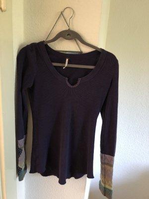 Free People Knitted Sweater dark violet-grey violet