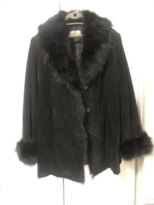 Elena Miro Manteau court noir cuir