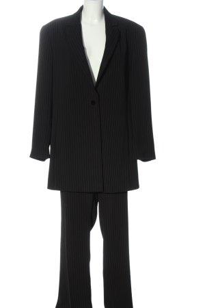 Elena Miro Tailleur-pantalon noir motif rayé style d'affaires
