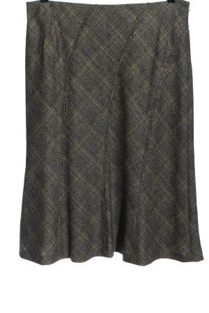 Elena Miro Wollen rok geruite print casual uitstraling