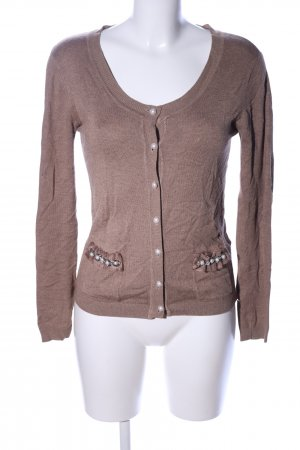 Strickjacke braun Business-Look