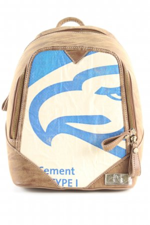 Elephbo Kindergarden Backpack blue-natural white themed print casual look