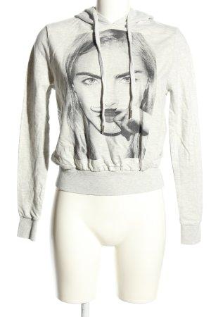 Eleven Paris Kapuzensweatshirt hellgrau meliert Casual-Look