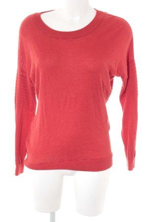 Eleven Paris Maglione lavorato a maglia rosso mattone stile casual