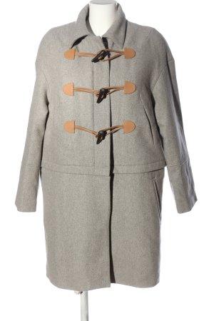 Eleven Paris Cappotto in lana grigio chiaro-color carne stile casual
