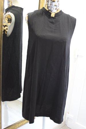 Eleventy Kleid mit Kragen schwarz Gr 38/40