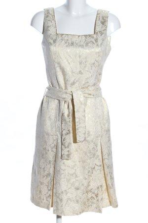 ELF & E Abendkleid wollweiß Blumenmuster Elegant
