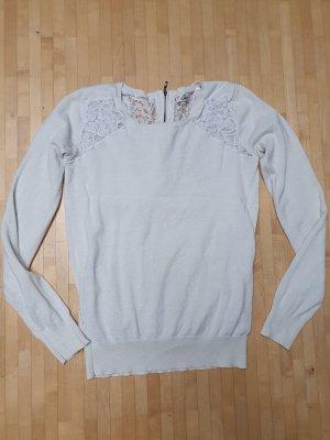 Elfenbeinfarbener Pullover mit Spitze, Guess, Gr. S