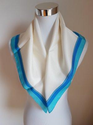 Elie Saab Sciarpa di seta crema-blu Seta