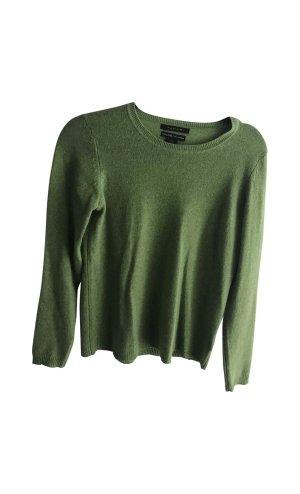 Elie Tahari 100% Kaschmir Pullover grün Luxus Linie cashmere pur