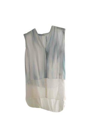 Elie Tahari Designer 100% Seide Bluse Tunika xs 34 blau