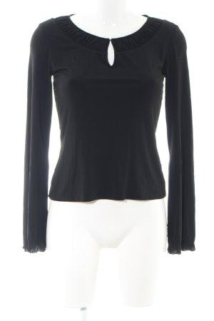 Elie Tahari Langarm-Bluse schwarz Casual-Look