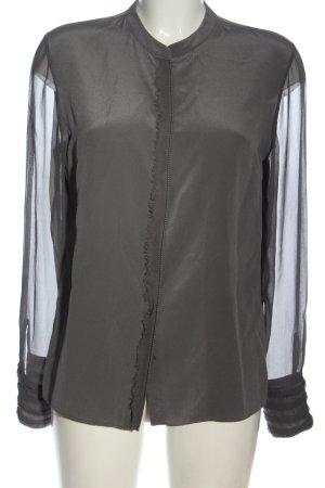 Elie Tahari Camicia a maniche lunghe grigio chiaro stile professionale