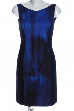 Elie Tahari Etuikleid blau-schwarz abstraktes Muster Business-Look