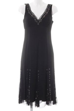 Elie Tahari Midikleid schwarz-silberfarben Elegant