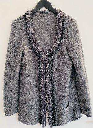 Elie Tahari Giacca in maglia argento-nero