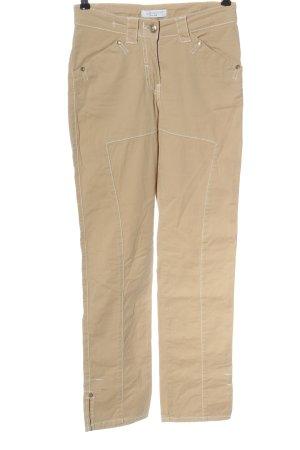 Elisa Cavaletti High Waist Trousers cream striped pattern casual look