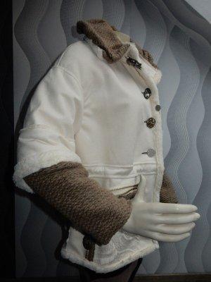 Elisa Cavaletti Kurtka oversize w kolorze białej wełny