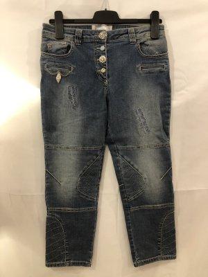 Elisa Cavaletti Jeans a 3/4 bianco-blu