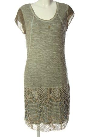 Elisa Cavaletti Shortsleeve Dress light grey-khaki flecked classic style