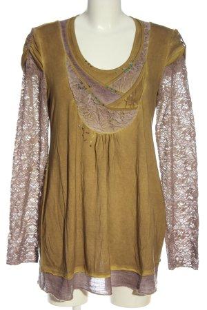 Elisa Cavaletti Langarm-Bluse bronzefarben-braun Casual-Look
