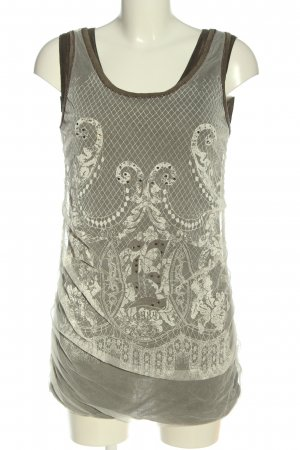 Elisa Cavaletti Long Top light grey-natural white allover print casual look