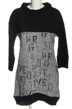 Elisa Cavaletti Sweater Dress black-white allover print casual look