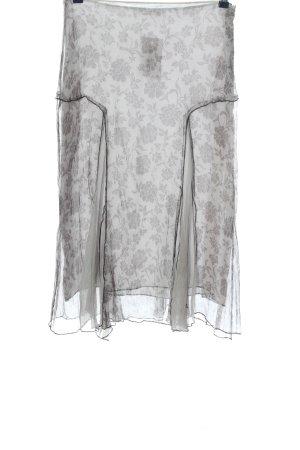Elisa Cavaletti Zijden rok lichtgrijs volledige print casual uitstraling
