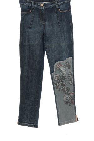 Elisa Cavaletti Straight-Leg Jeans blau Motivdruck Casual-Look