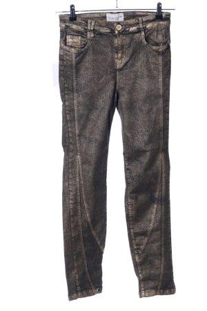 Elisa Cavaletti Jeans stretch doré style décontracté