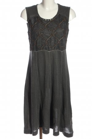 Elisa Cavaletti Knitted Dress light grey themed print casual look