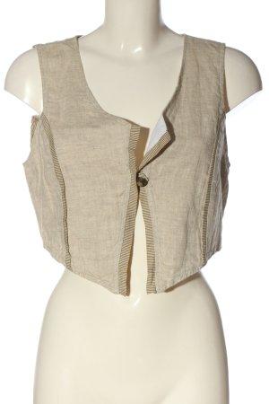 Elisa Cavaletti Gilet tricoté blanc cassé-brun style décontracté