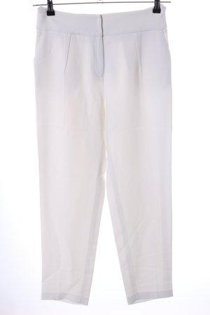 Elisabetta Franchi Pantalón de vestir blanco puro estilo «business»