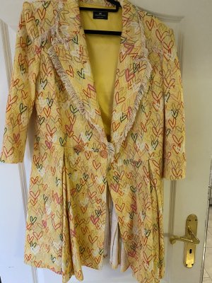 Elisabetta Franchi Gabardina tipo vestido amarillo
