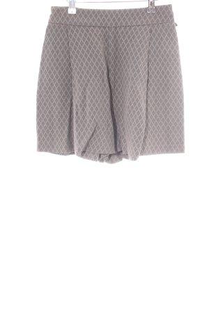 Elisabetta Franchi High-Waist-Shorts hellgrau Allover-Druck Casual-Look