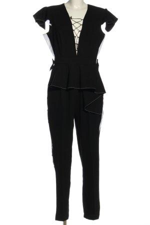 Elisabetta Franchi Jumpsuit schwarz-weiß extravaganter Stil