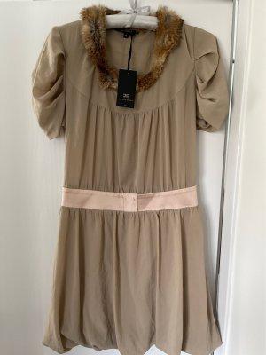 Elisabetta Franchi Empire Dress beige-oatmeal