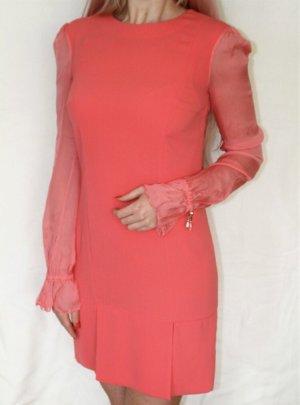 Elisabetta Franchi Kleid IT42 = 36 Coral Seide