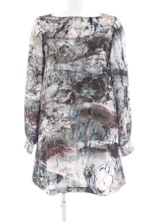 Elisabetta Franchi Langarmkleid abstraktes Muster Casual-Look